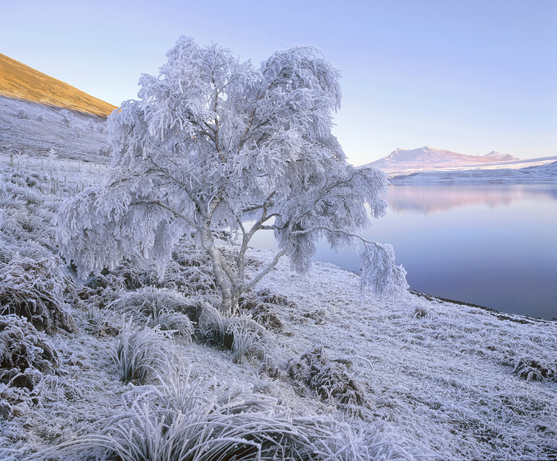 zero, Loch a Chroisg, Achnasheen, Scotland, temperatures,frost, loch, frozen, crystalline photo