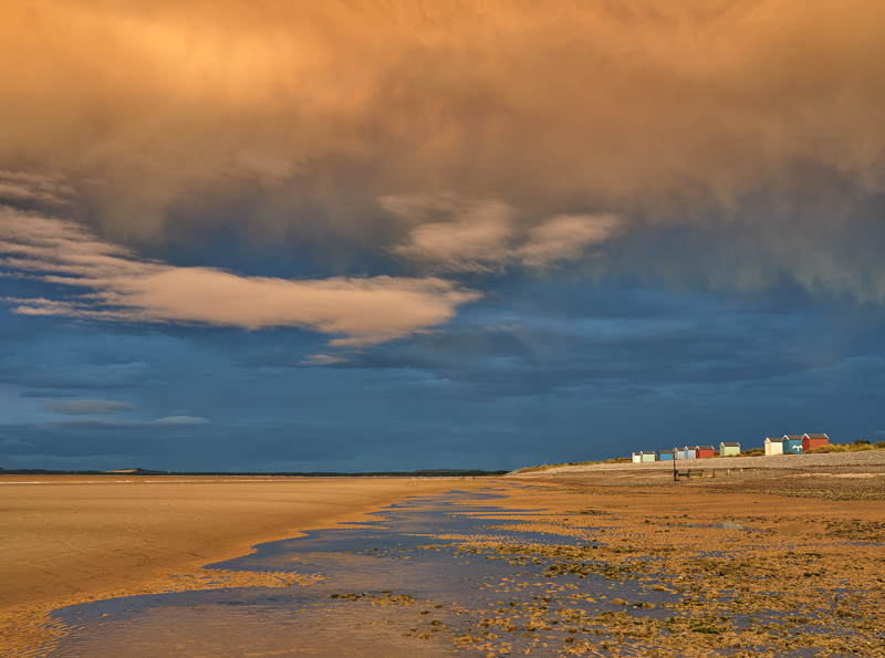 Apocalyptic Skies Findhorn, Findhorn, Moray, Scotland, ridiculous, sky, ginger, beach huts, realistic   photo