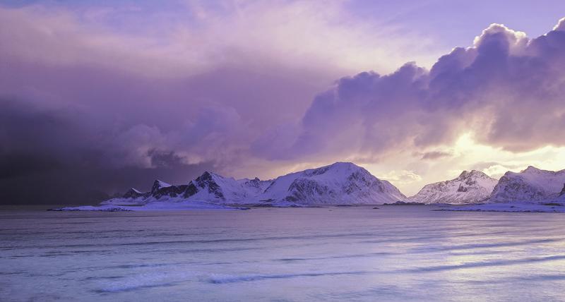 Approaching Storm Yttresand, Yttresand, Lofoten, Norway, clouds, sun, peaks, bay, evil, mountains, weather, sky photo