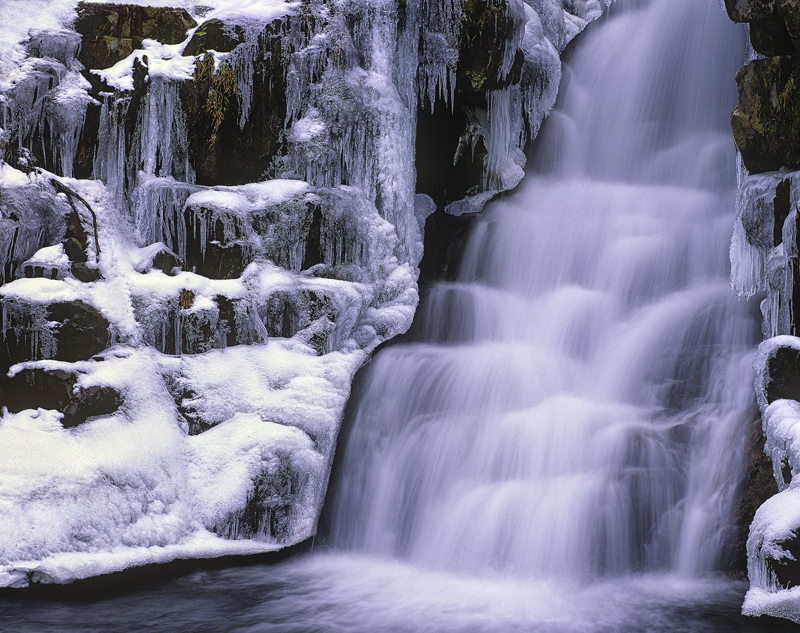 Ardessie Ice Falls, Ardessie, Ross Shire, Scotland, waterfall, road, attractive, shape, ledges, cascade, frozen, icicles photo