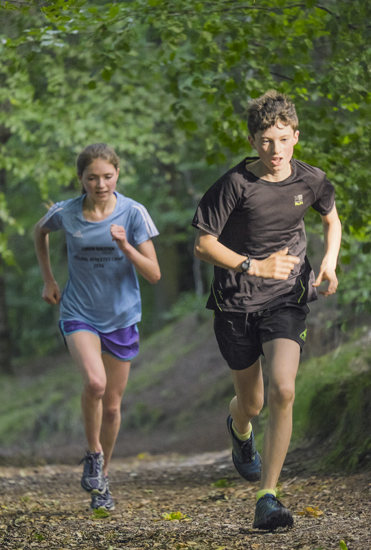 This was the only lap where there was any perceivable separation between Ben and Anna during any of the hill reps and it was...