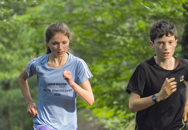 Ben Cameron and Anna MacFadyen side by side on one of the final reps of Diagon Alley above Grant Park in Forres.