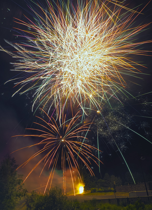Big Bang, Argentiere, Chamonix, France, astounded, town, industrial, fireworks, orchestrated, night, grand finale, sky  photo