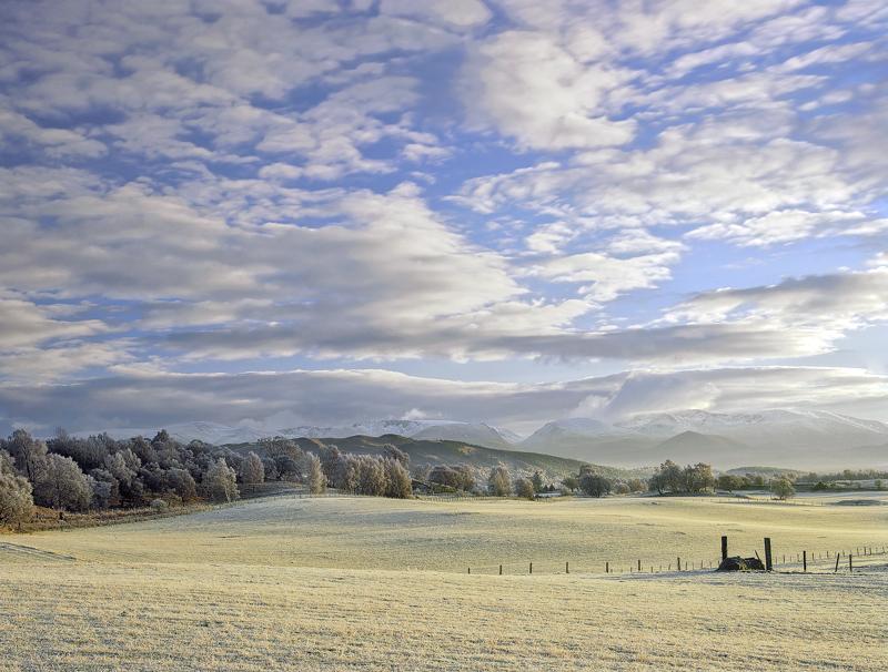 Cairngorm, view, Aviemore, Scotland, sunlight, winter, frozen photo