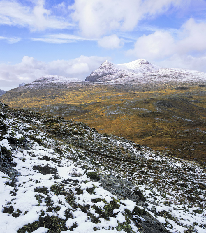 Chilled Cul Mor, Knockan Crag, Inverpolly, Scotland, Cul Mor, Mountains, view, snow, winter, climb, clouds, peak, wilder photo
