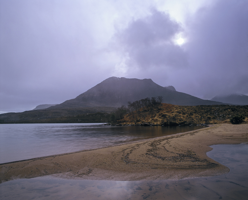 Clearing Shower Lurgainn, Loch Lurgainn, Inverpolly, Scotland, dleet, hail, moody, enchanting, sandy, cove, showers photo