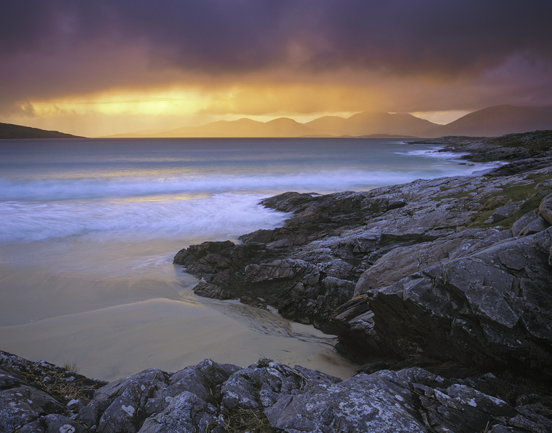 Clearing Squall, Traigh Rosamol. Harris, Scotland, transient light, finest, backlighting, summer, squall, atlantic, beac photo