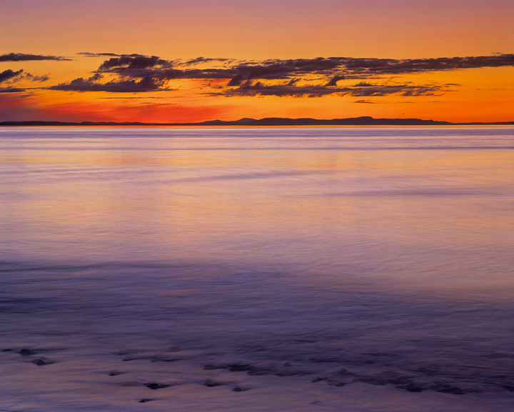 colour wash, Findhorn, moray, Scotland, moray firth, sunset,  photo