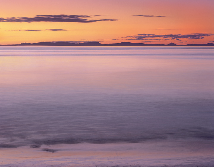 Colour wash, Findhorn, Moray, Scotland, summer, sunset, apricot, peach, blended photo