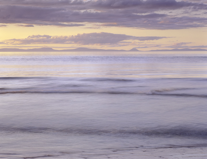colour wash, Findhorn, Moray, Scotland, Moray Firth, sunset, delicate, colours  photo