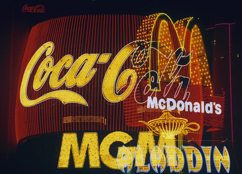 Corporate Merger, Las Vegas, Nevada, USA, strange, neon, absurd, money, signs, casino, city  photo