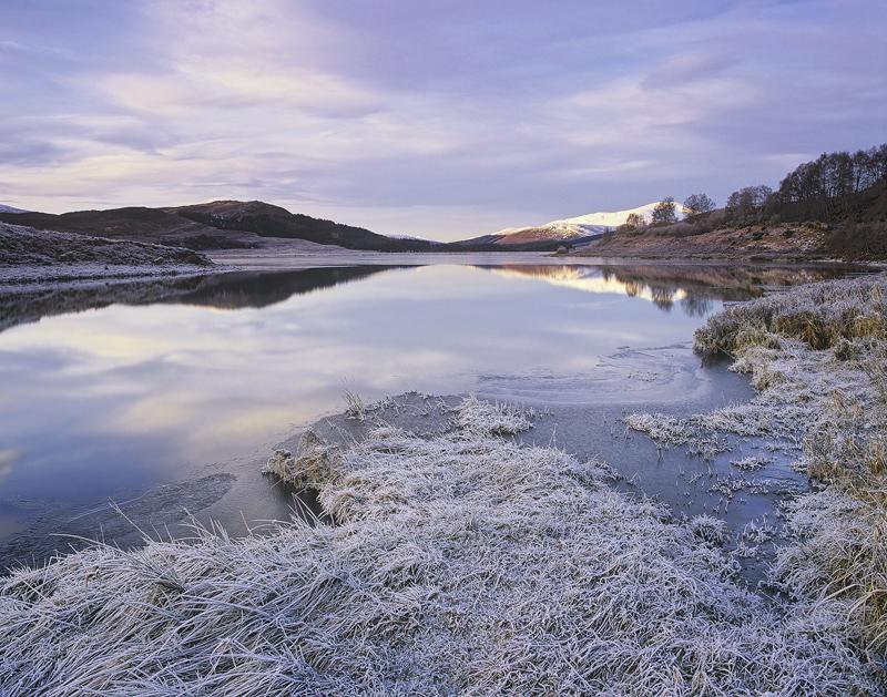 Dawn Reflections Strathbran, Strathbran, Achnasheen, Scotland, favourite, frost, dawn, peak, loch, sky, mirror, reflecti photo