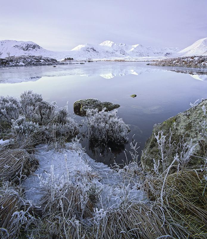Deep Freeze 1 Rannoch, Rannoch Moor, Glencoe, Scotland, loch n'a-chlaise, fractured, ice, frost, snow, crstalline, refle photo