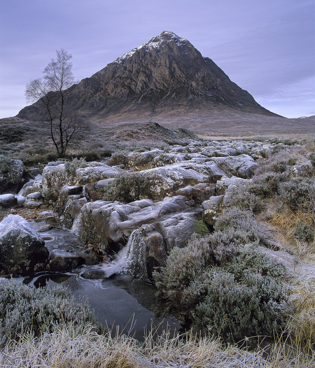 Emperors New Clothes, Buachaille Etive Mor, Glencoe, Scotland, soft, textured, tapestry, delicate, frost, hues, mountain photo
