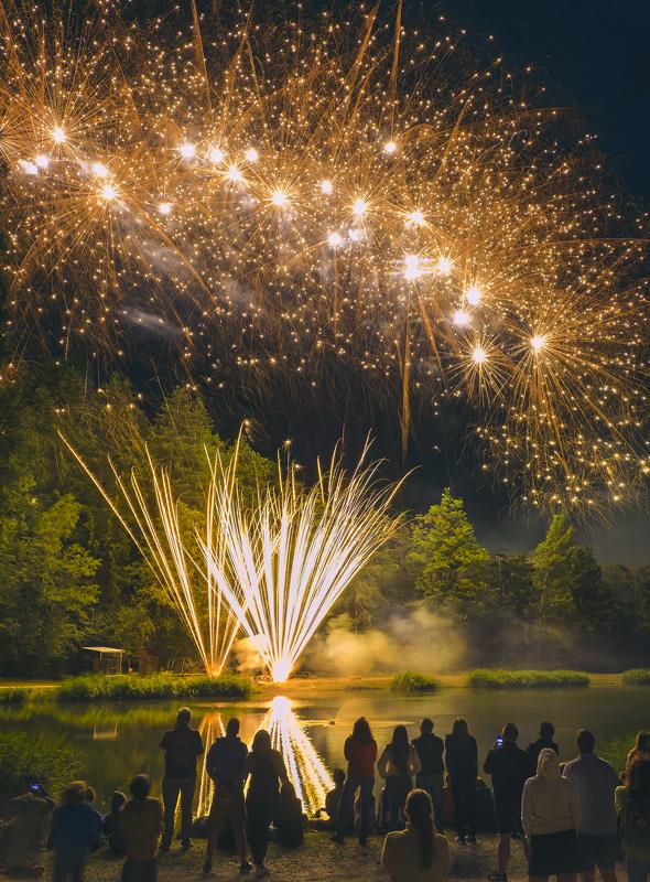 Fireworks 10, Les Houches, Chamonix, France, Bastille Day, town, village, display, epic, fantastic, lake, fireworks photo