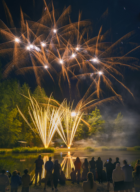 Fireworks 9, Les Houches, Chamonix, France, Bastille Day, town, village, display, fireworks, epic, fantastic, lake photo