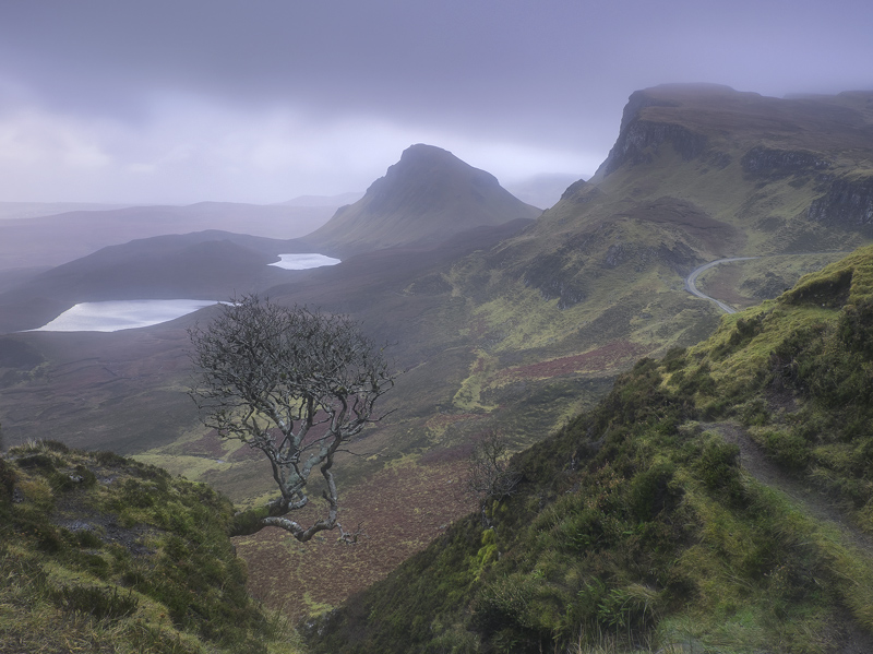Gloomy Quiraing, Quiraing, Skye, Scotland, mood, feel, damp, eerie, cold, dejected, majestic, silence, atmosphere, shive photo