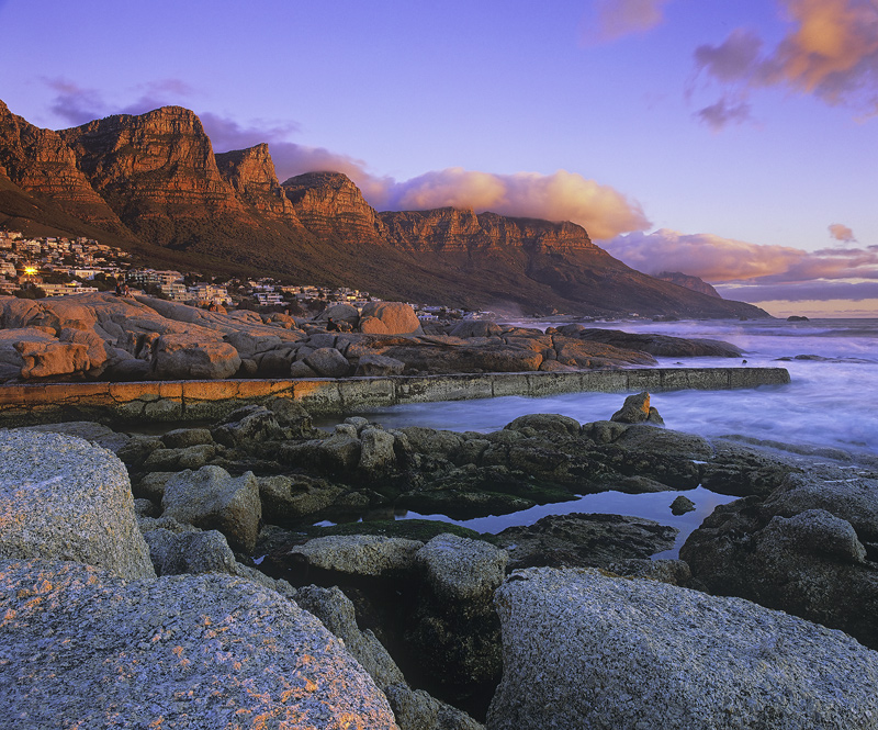Camps Bay Sundowner, Camps Bay, South Africa, Africa, sunset, plateau, cliffs, amber, scarlet, fireball, sun, sea, ember photo