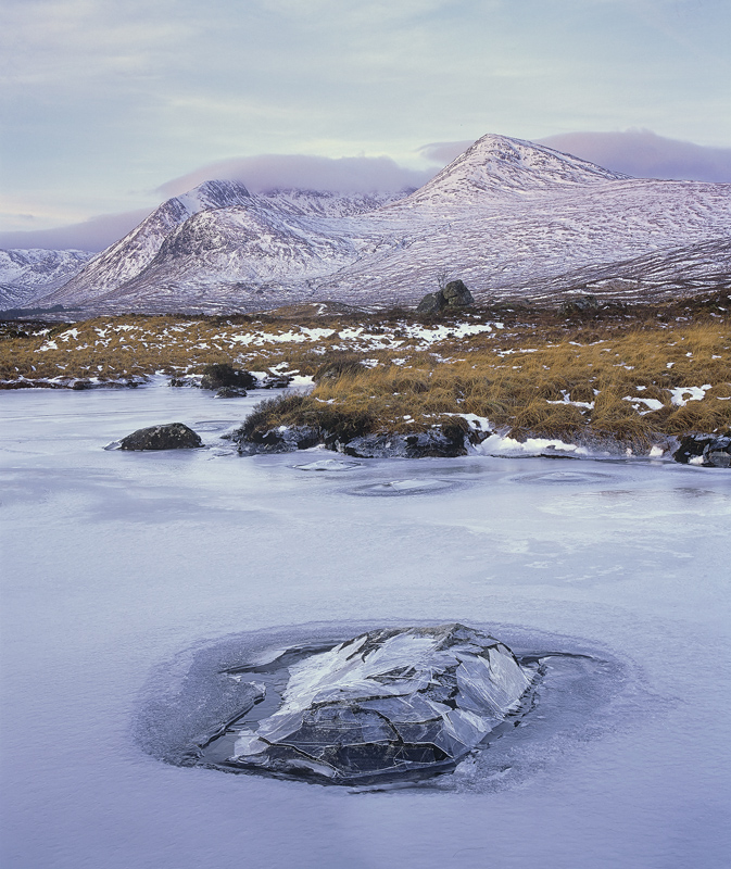 Ice Crown Rannoch, Rannoch Moor, Glencoe, Scotland, winter, weather, water, table, isolated, protrude, lochans, collapse photo