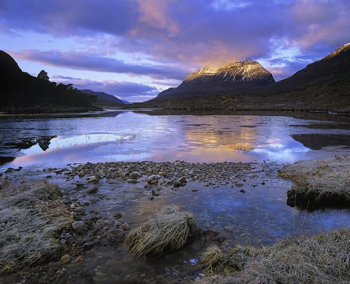 Liathach Gold Loch Clair Torridon Scotland Transient