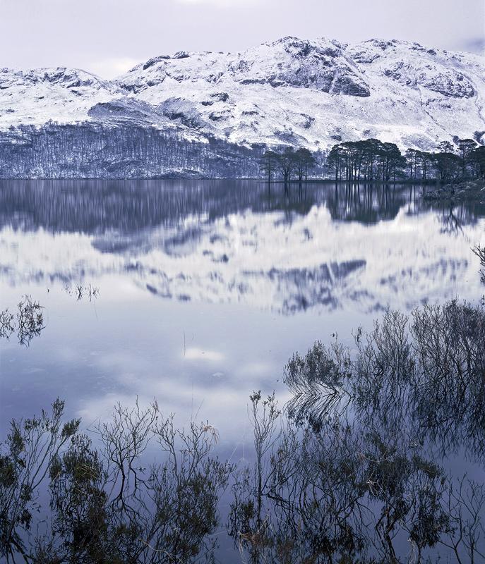 Loch Maree Chilled, Loch Maree, Torridon, Scotland, sapphire, loch, hue, blue, winter, twilight, evening, chill, shiver, photo