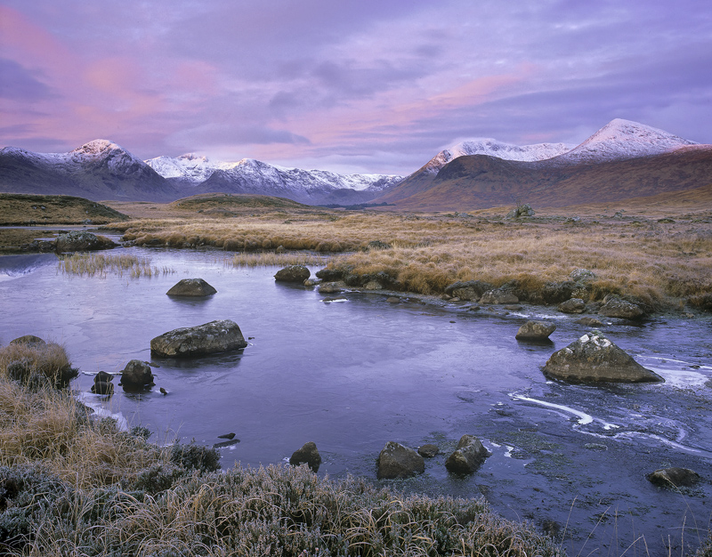 Loch Na Stainge Sublime, Loch Na Stainge, Glencoe, Scotland, summits, Black Mount, dawn, soft, reflecting, mountain, pea photo
