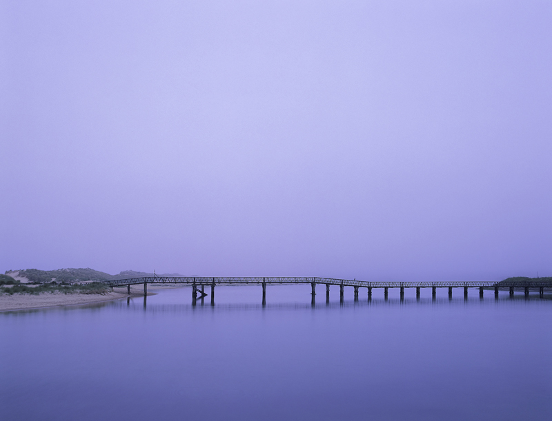 Lossiemouth Blues, Lossiemouth, Moray, Scotland, iron, footbridge, east coast, beach, fog, dense, heron, blue, dawn   photo
