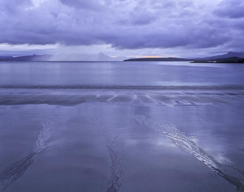 Mellon Twilight, Mellon Udrigle, Ross-Shire, Scotland, sand, beautiful, steely, blue, twilight,triple, channels, water,  photo