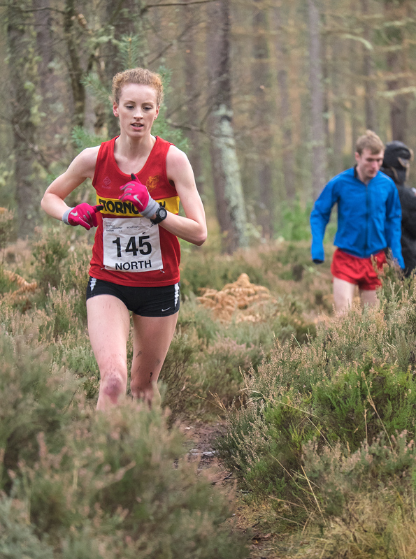 Eilidh Mackenzie from Stornoway winner of the Senior Ladies North District XC Championships in Quarrelwood, Elgin.