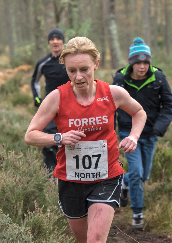 Susan McRitchie second best placed Forres Harrier in the Senior womens event