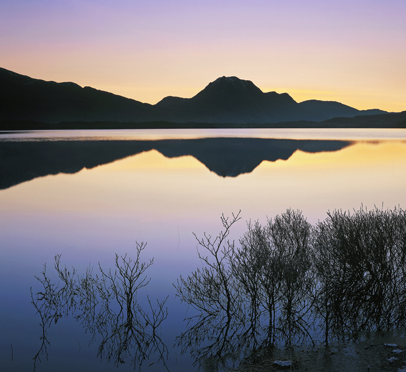 Perfect Dawn, Slattadale, Torridon, Scotland, dawn, sunrise, illuminate, delicate, mellow, gentle, lilac, twilight, blue photo