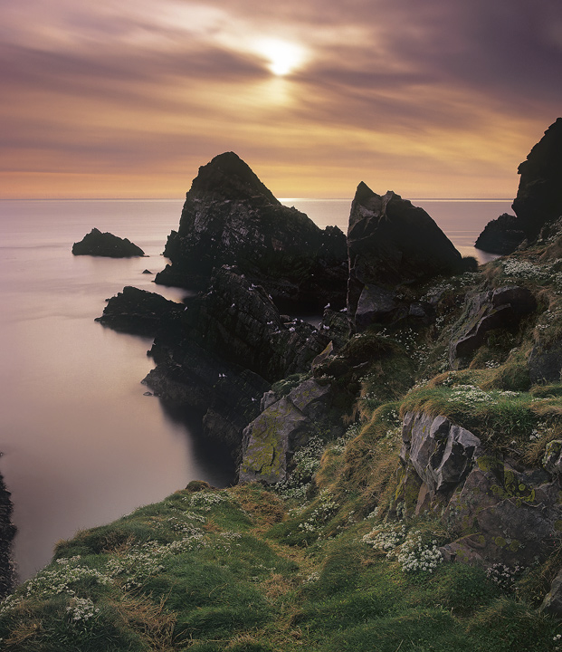 Portknockie Caramel, Portknockie, Moray, Scotland, magnificent, cliffs, sea, stacks, coastline, dawn, summer, north photo