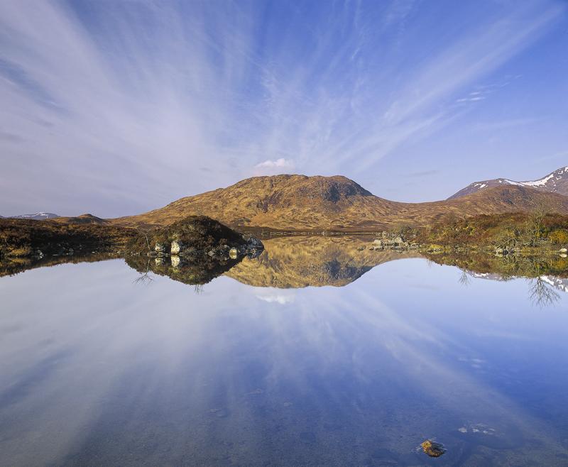 Rannoch Saltire Rannoch Moor Glencoe Scotland