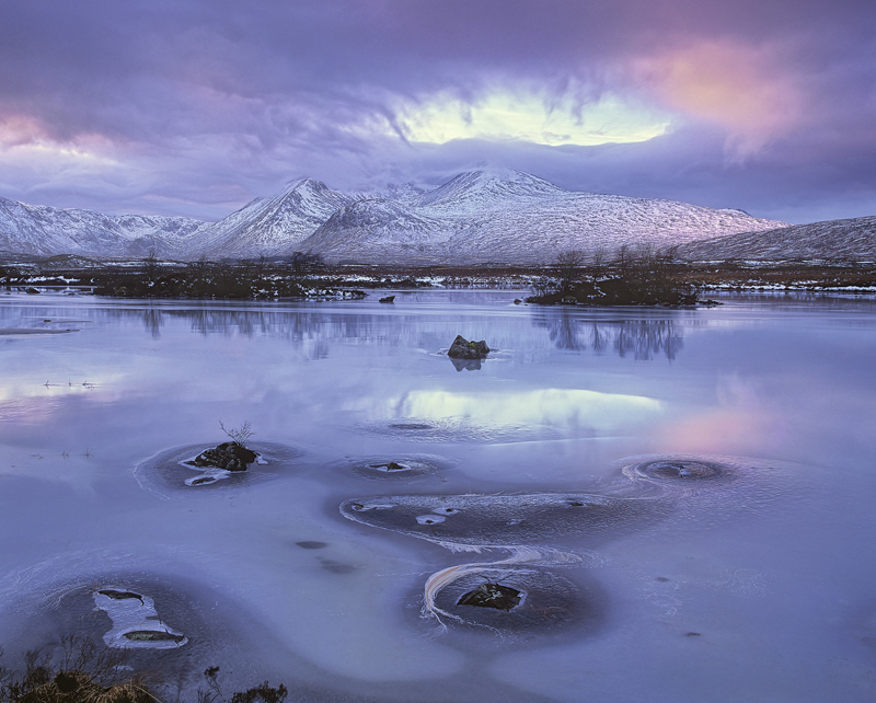 Rose Tinted Spectacle, Rannoch Moor, Glencoe, Scotland, sublime, fading, winter, mountain, ice, snow, clouds, crown, cya photo