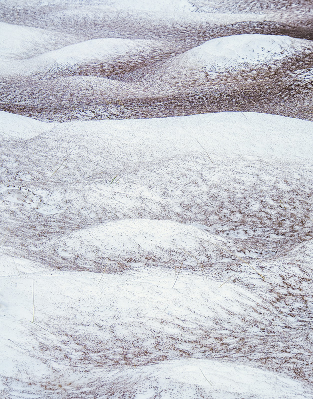 Sand Blasted 3, Achnahaird Bay, Inverpolly, Scotland, winter, dune, sensuous, mounds, snow, snowfall, Ullapool, patterne photo