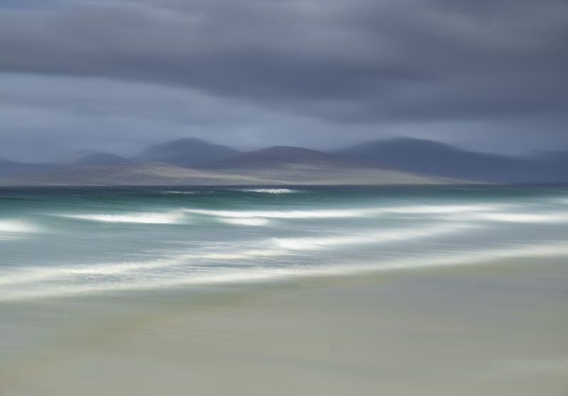 Seilebost Impressions, Seilebost, Harris, Scotland, vaseline, breakers, sunlit, moody, grey, artistic, west coast, beach photo