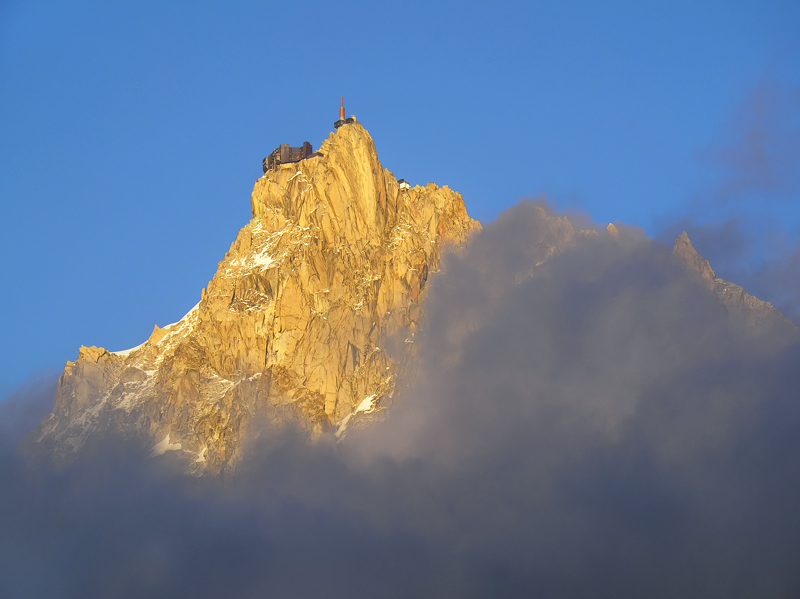 Sneak Preview, Les Houches, Chamonix, France, rare, moment, clarity, Aiguille Du Midi, exposed, peak, summer, traces, sn photo