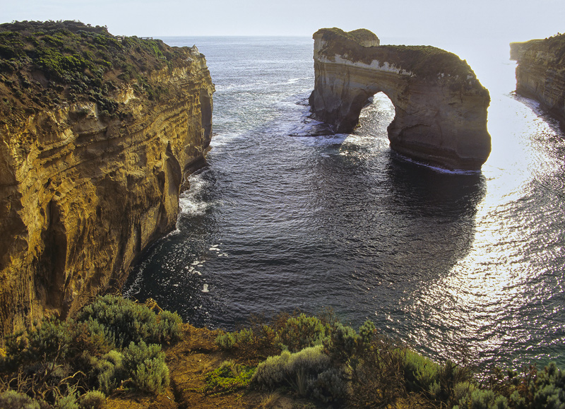 The Arched Window, Loch Ard, Victoria, Australia, massive, structure, sandstone, sunset, evening, light, beaches, cliffs photo