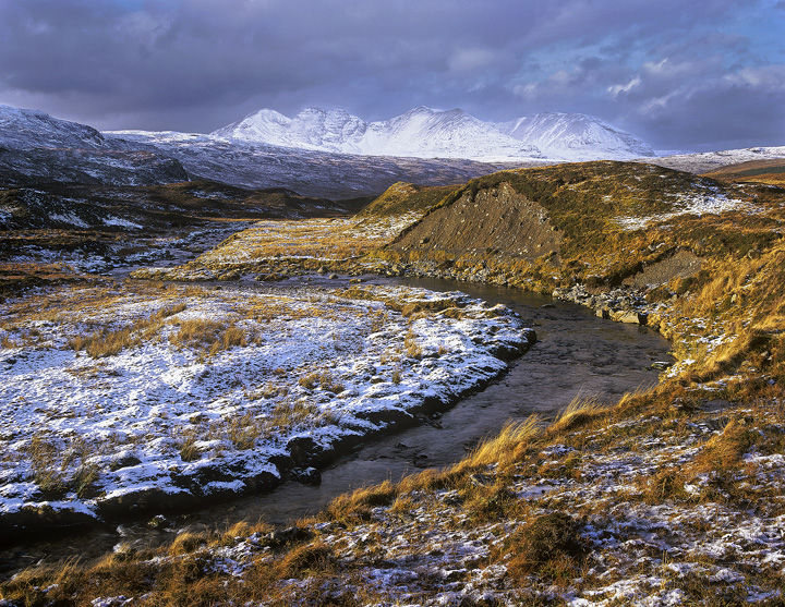 Path Of Least Resistance, Braemore Junction, Scotland, winter, morning, high, plateau, An Teallach, ridge, mountain photo