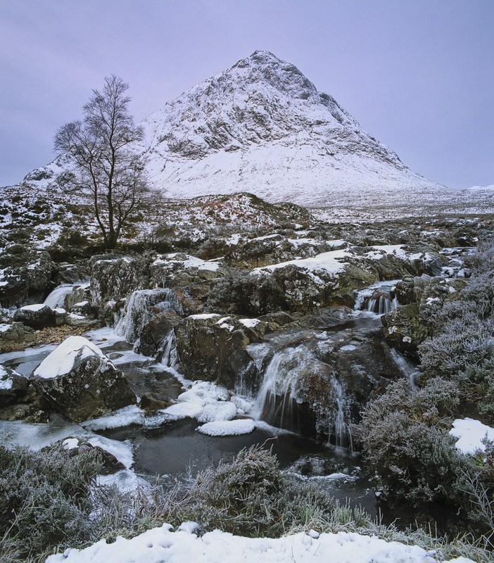 The Sombre Herdsman, Rannoch Moor, Glencoe, Scotland, looming, pyramid, Buachaille Etive Mor, shroud, souless, soft photo