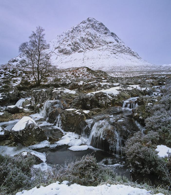 The Sombre Herdsman, Rannoch Moor, Glencoe, Scotland, looming, pyramid, Buachaille Etive Mor, shroud, souless, soft photo