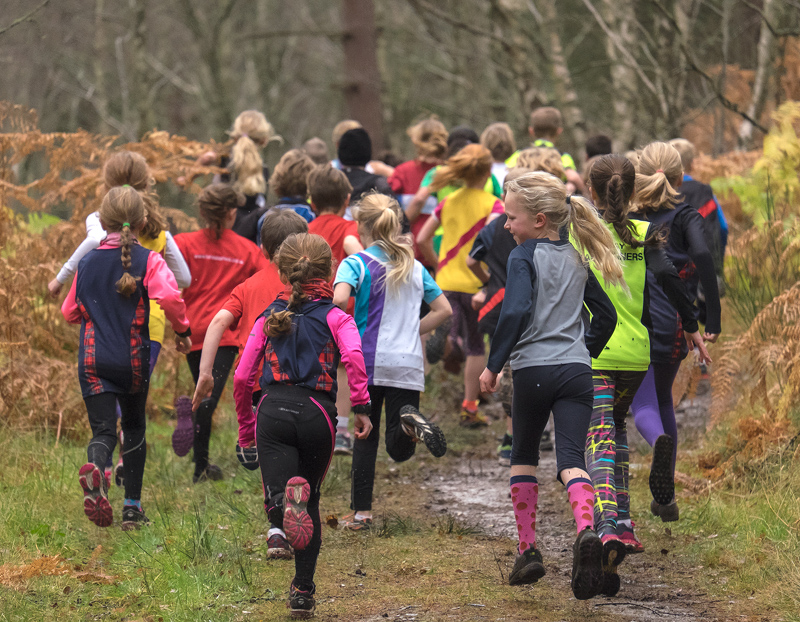 The under 11 event may not have been a championship event but the kids didn't know or care and they attacked the 1.6km course...