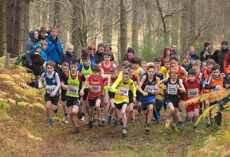 Five seconds after the gun goes to mark the start of the under 13 boys North District cross country championships.
