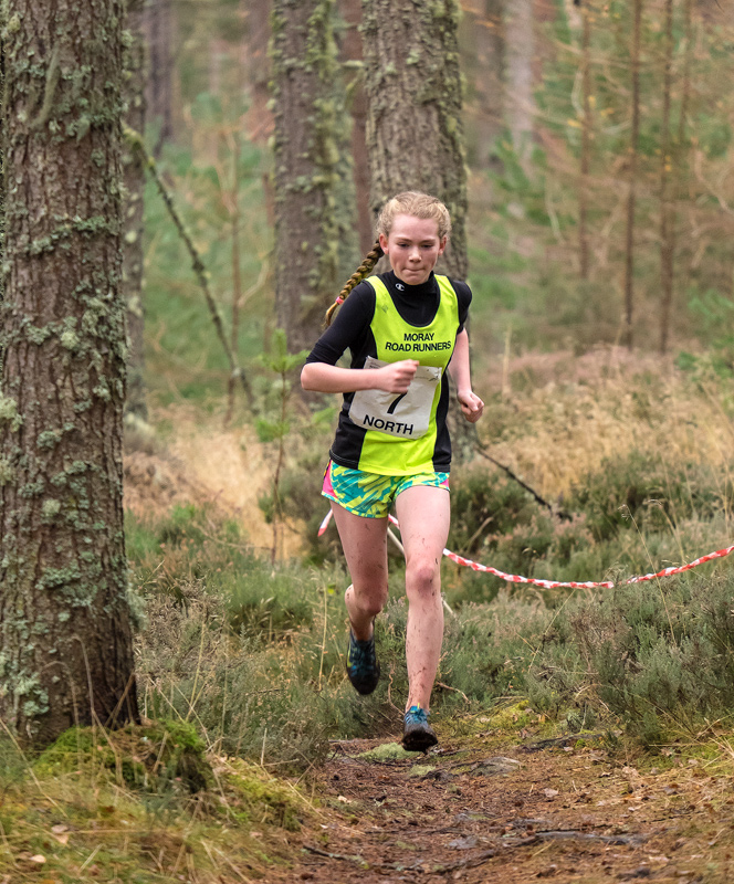 Niamh Whelan (Moray Roadrunners) finished a very creditable 5th place to enhance her chances of a spot in the squad going down...