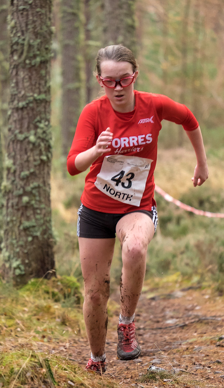 Lily Carmichael was the second of the girls under 15 Forres Harriers to finish, she ran a time of 18 mins 11 seconds for the...