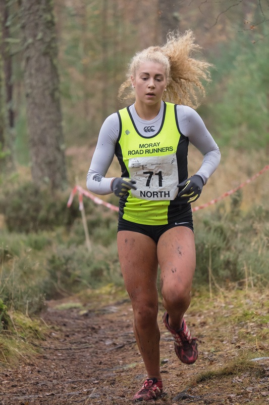 Sophia Green (Moray Roadrunners), finished second in the under 17 girls north district cross country championships in a time...