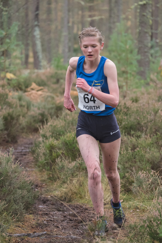 Rhiannon Kirk (North Highland Harriers), fourth place in the under 17 girls event finished in fourth place in a time of 20 mins...