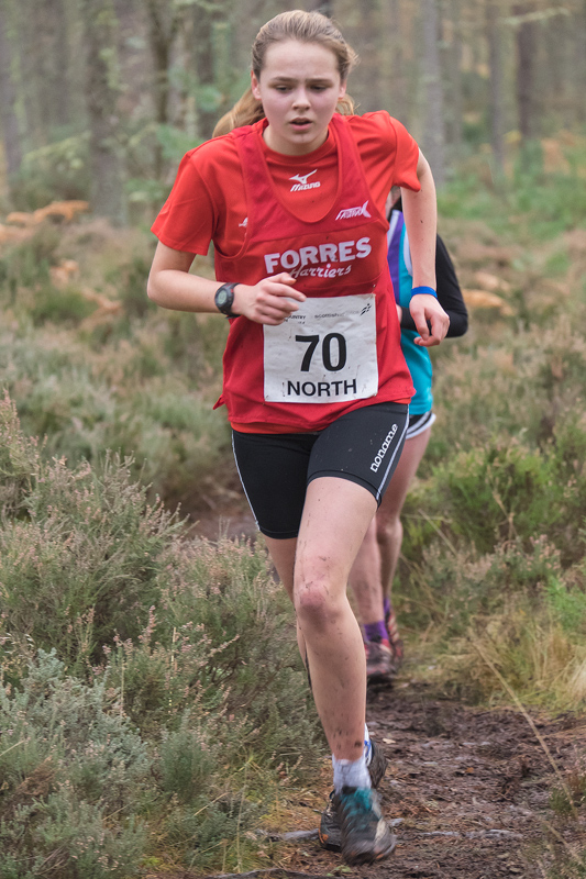 Kathryn Barr, (Forres Harriers) specialises more towards orienteering events and has reached national standard in her age group...