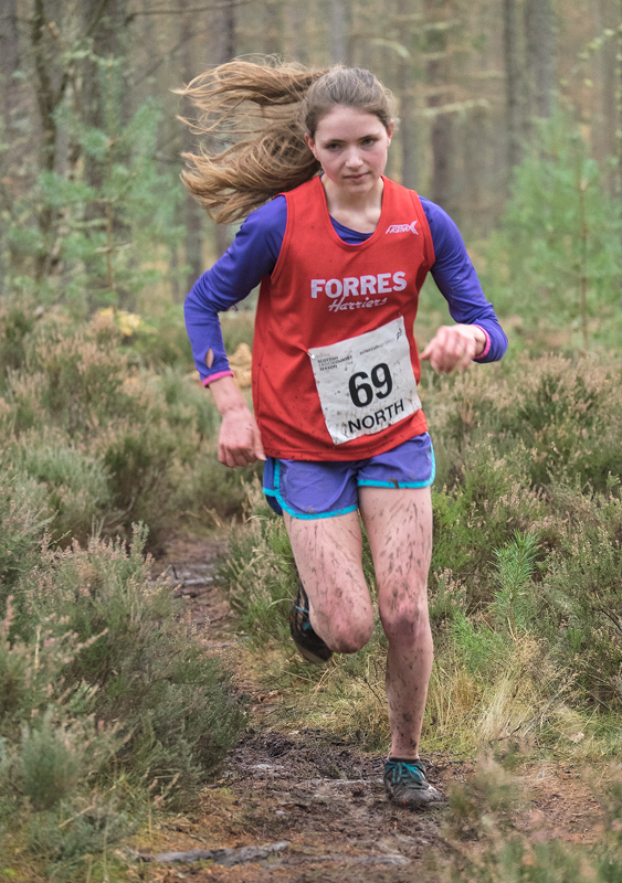 Probably the outstanding young runner of the day and the most sparkling performance came from Anna MacFadyen of Forres Harriers...