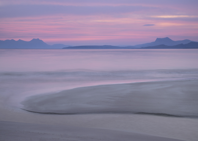Water Mellon Pink, Mellon Udrigle, Wester Ross, Scotland, beach, sands, stones, tide, weather, sunrise, smooth, clean, r photo